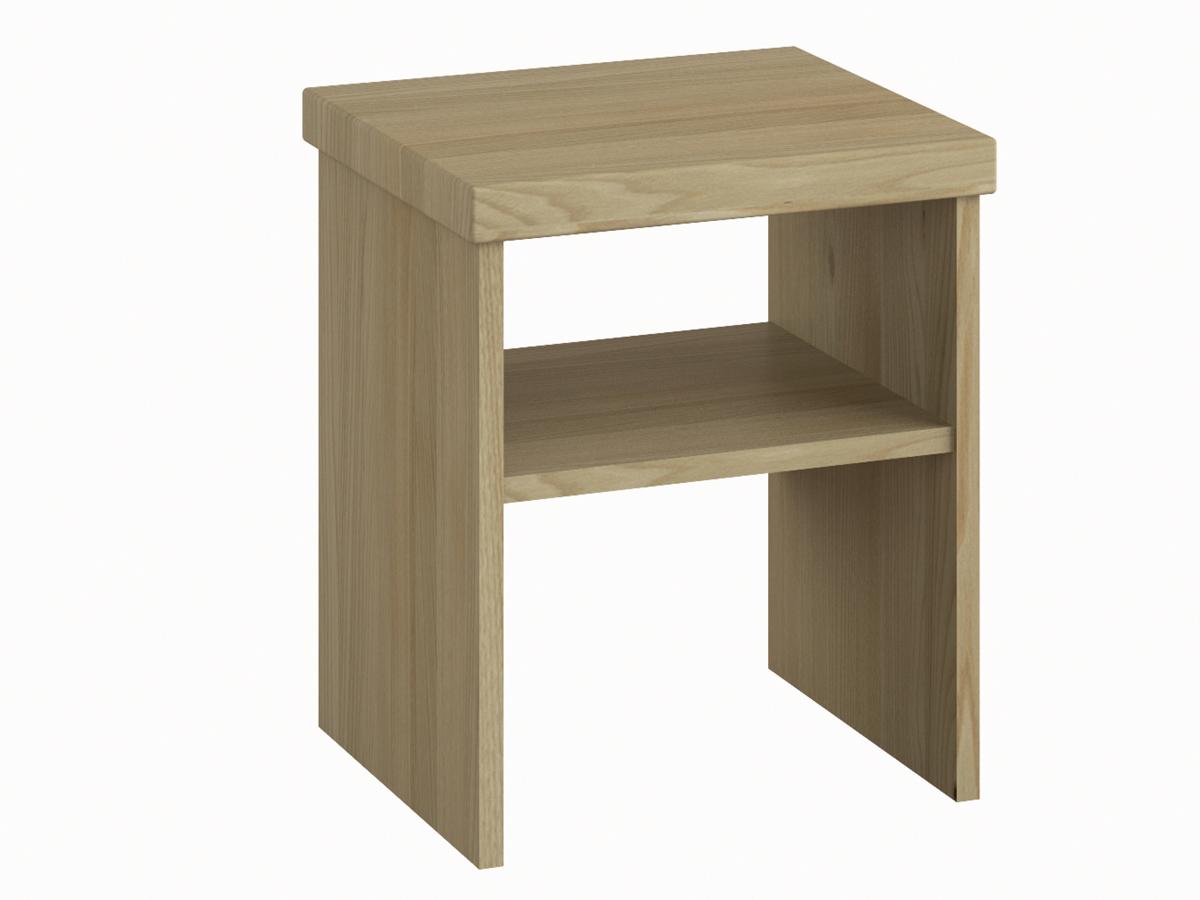 """Nachttisch aus Kastanie ohne Lade """"Alfred"""" in Komforthöhe"""