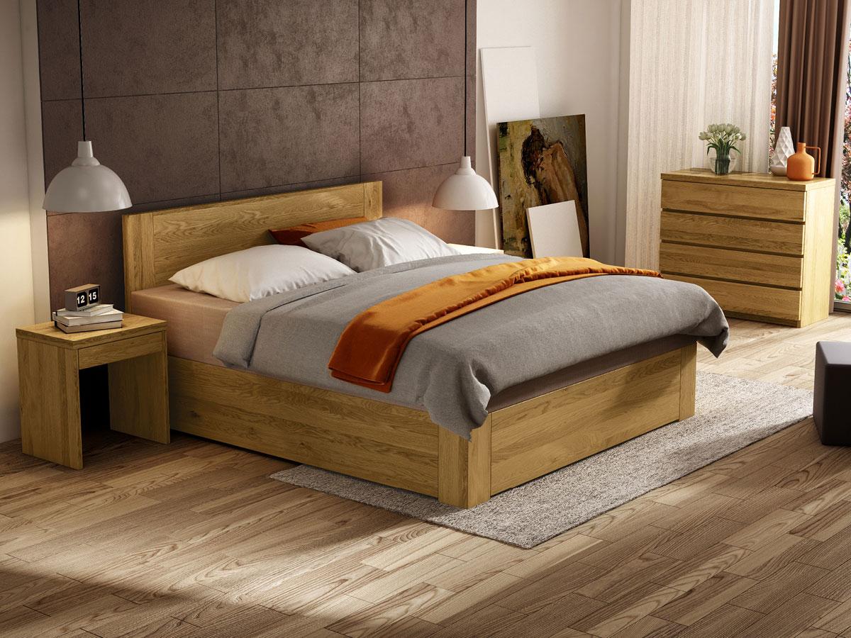 """Schlafzimmer mit Eichenbett """"Alois"""" Boxspring"""
