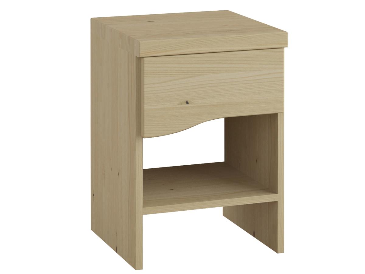 """Nachttisch aus Kastanie """"Astrid"""" mit einer Schublade, in Boxspringhöhe"""