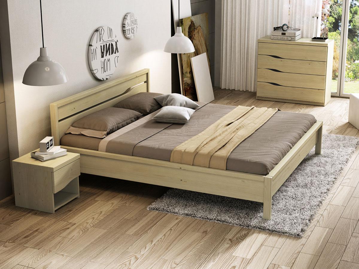 """Schlafzimmer mit Kastanienbett """"Barbara"""""""