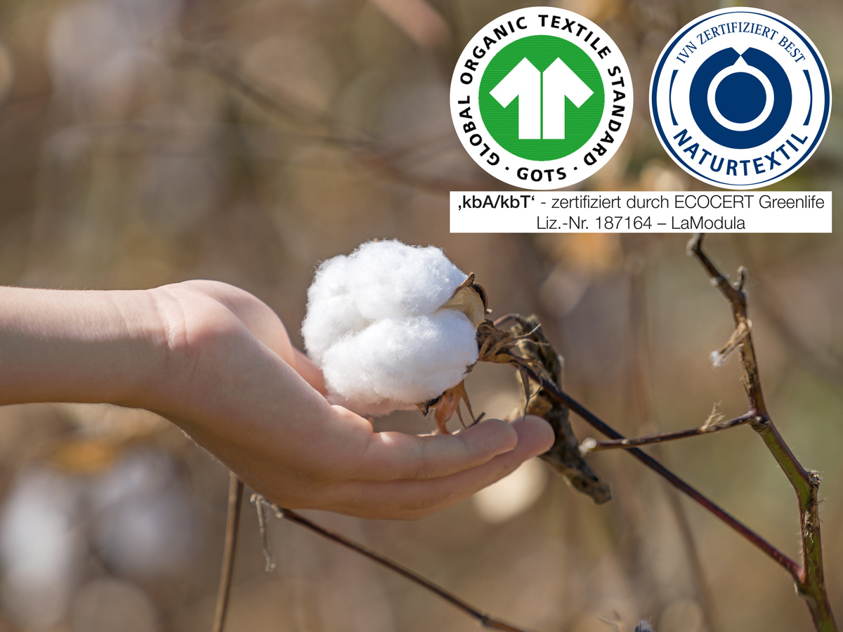 Zertifizierte Bio-Baumwolle aus kontrolliert biologischem Anbau