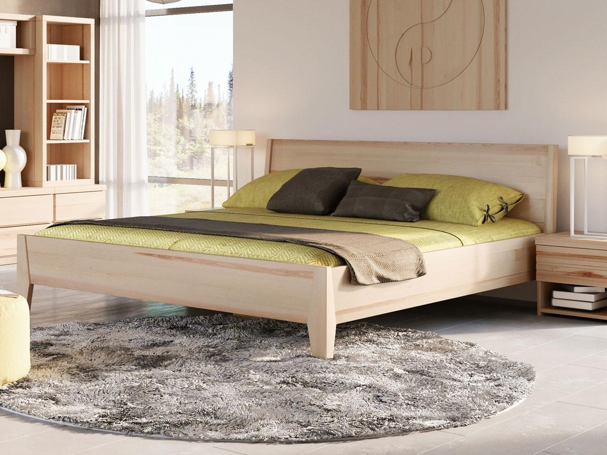 """Schlafzimmer mit Eschenholzbett """"Benjamin"""" 180 x 200 cm"""
