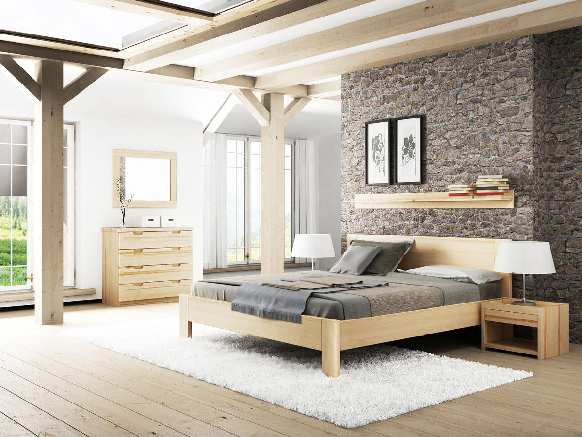 """Schlafzimmer mit zwei Regalen """"David"""" in Esche"""