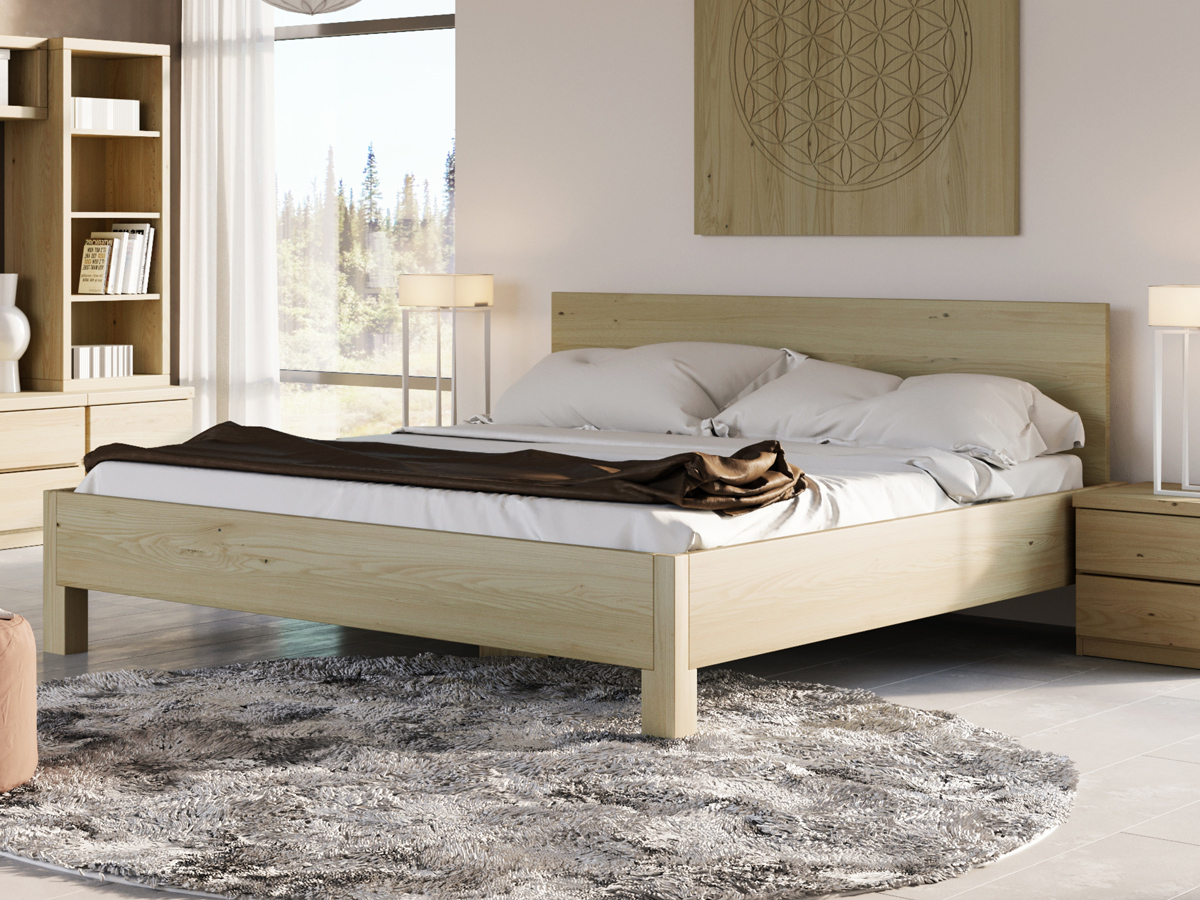 """Schlafzimmer mit Kastanienbett """"Daniel"""" 180 x 200 cm"""