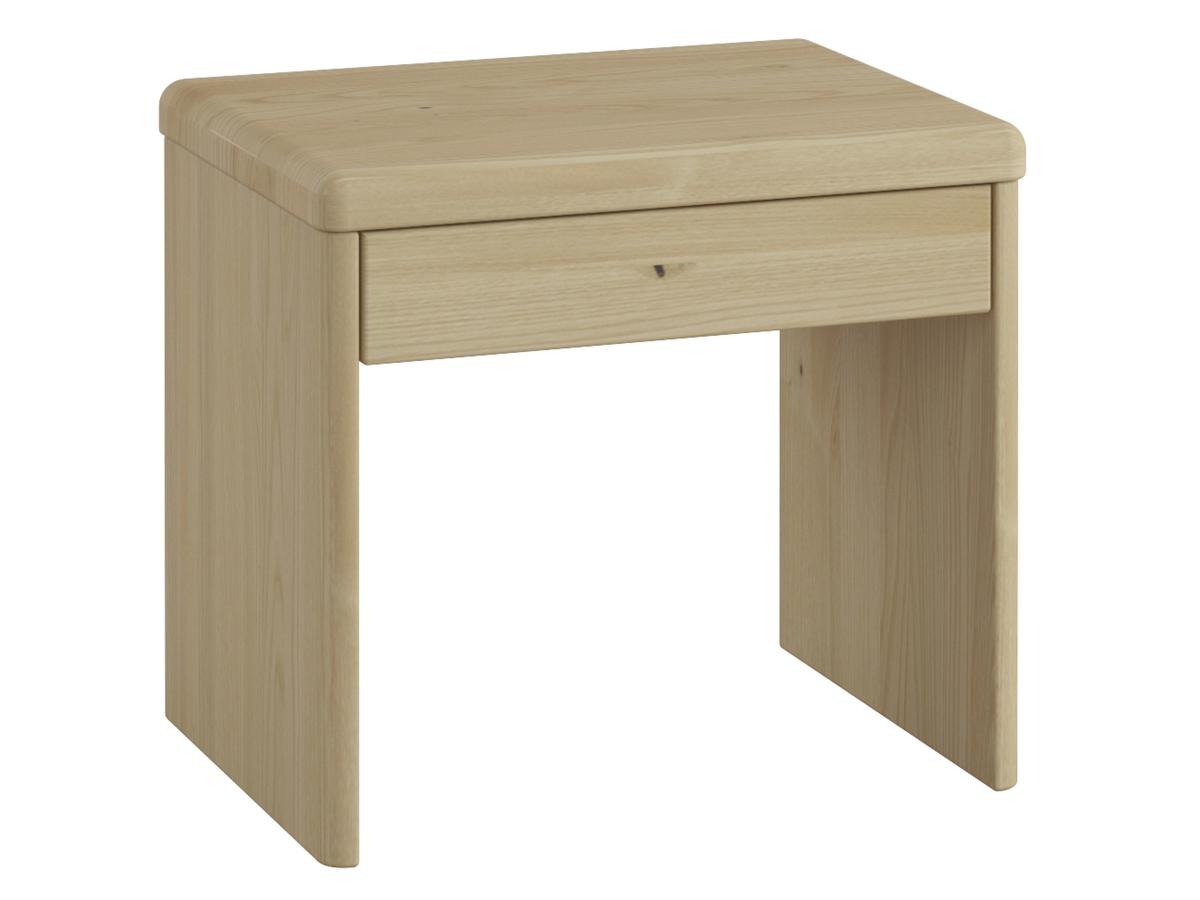 """Nachttisch aus Kastanie """"Doris"""" in Komforthöhe, mit Schublade"""