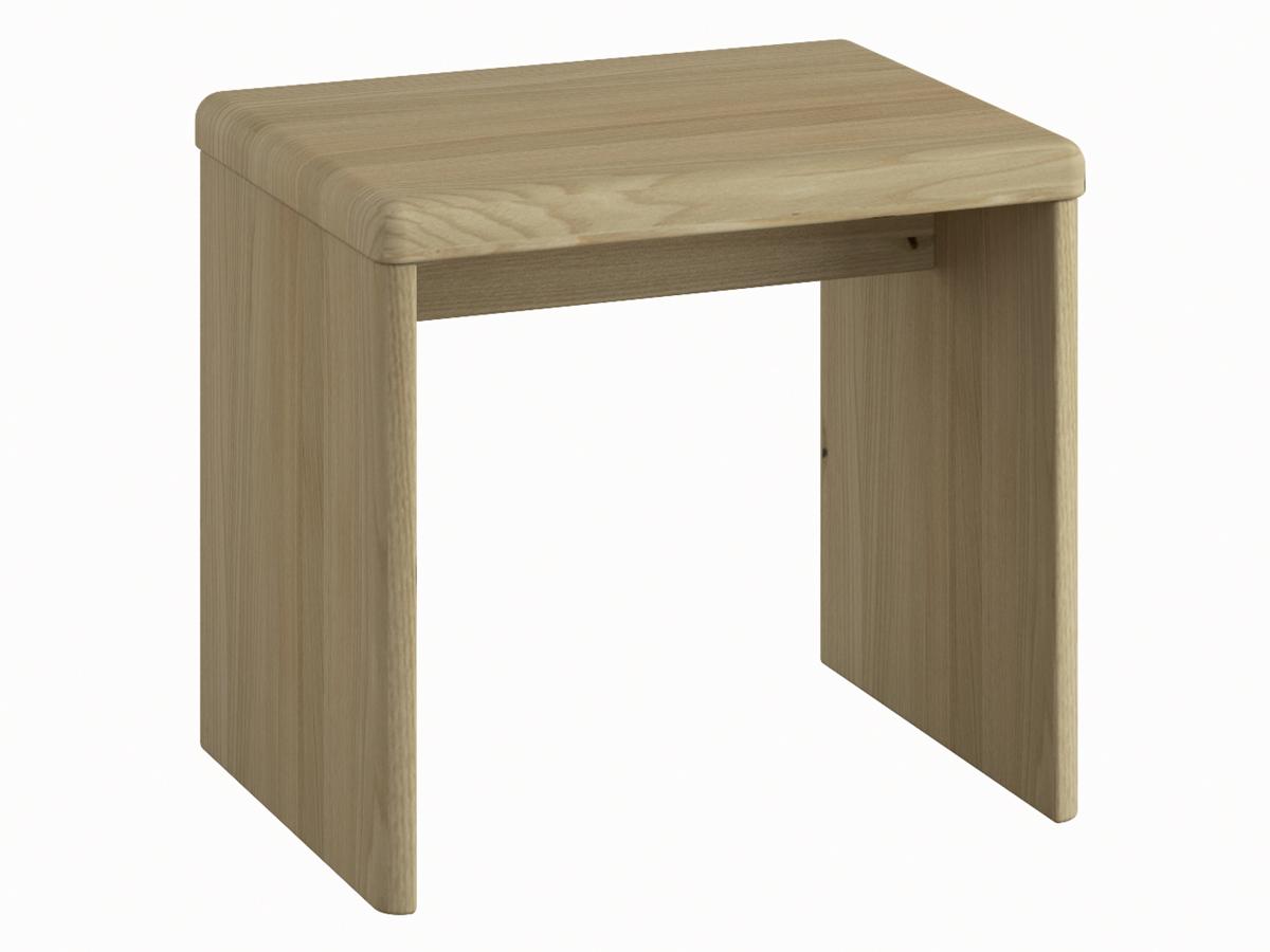 """Nachttisch aus Kastanie """"Doris"""" in Komforthöhe, ohne Schublade"""