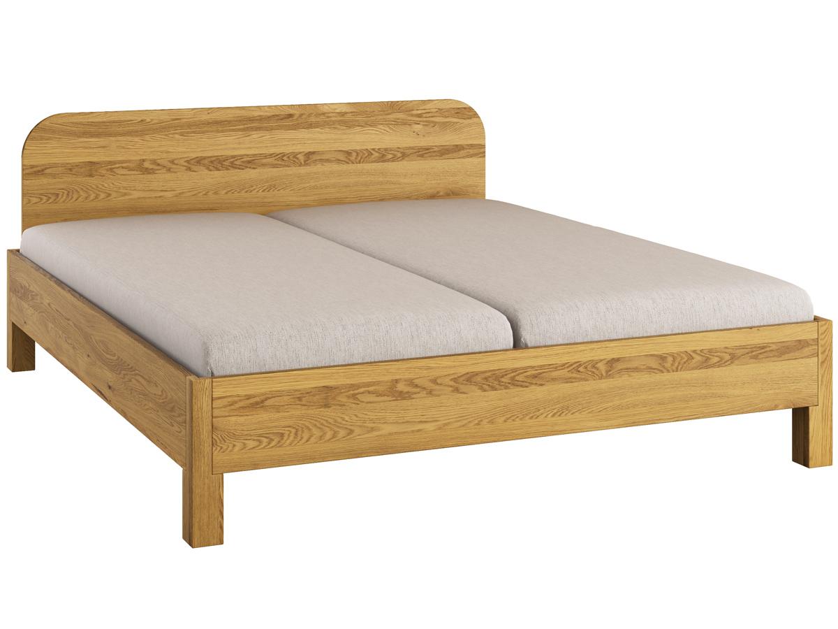 """Bett Eiche """"Samuel"""" 180 x 200 cm - mit geradem Fußteil"""