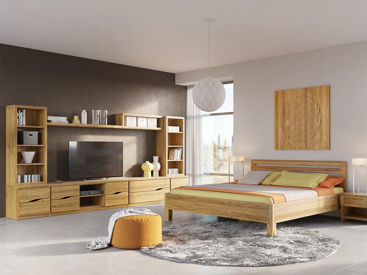 """Eichenwohnzimmer mit Lowboard """"Astrid"""""""