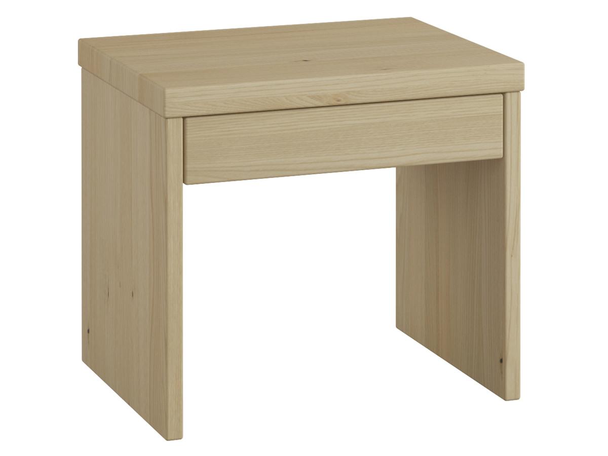 """Nachttisch aus Kastanie """"Emil"""" mit Schublade in Komforthöhe"""