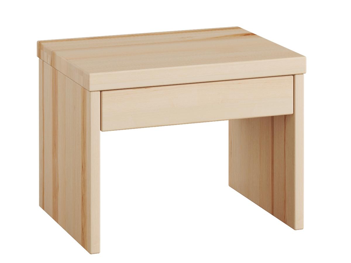 """Nachttisch aus Esche """"Emil"""" mit Schublade in Standardhöhe"""