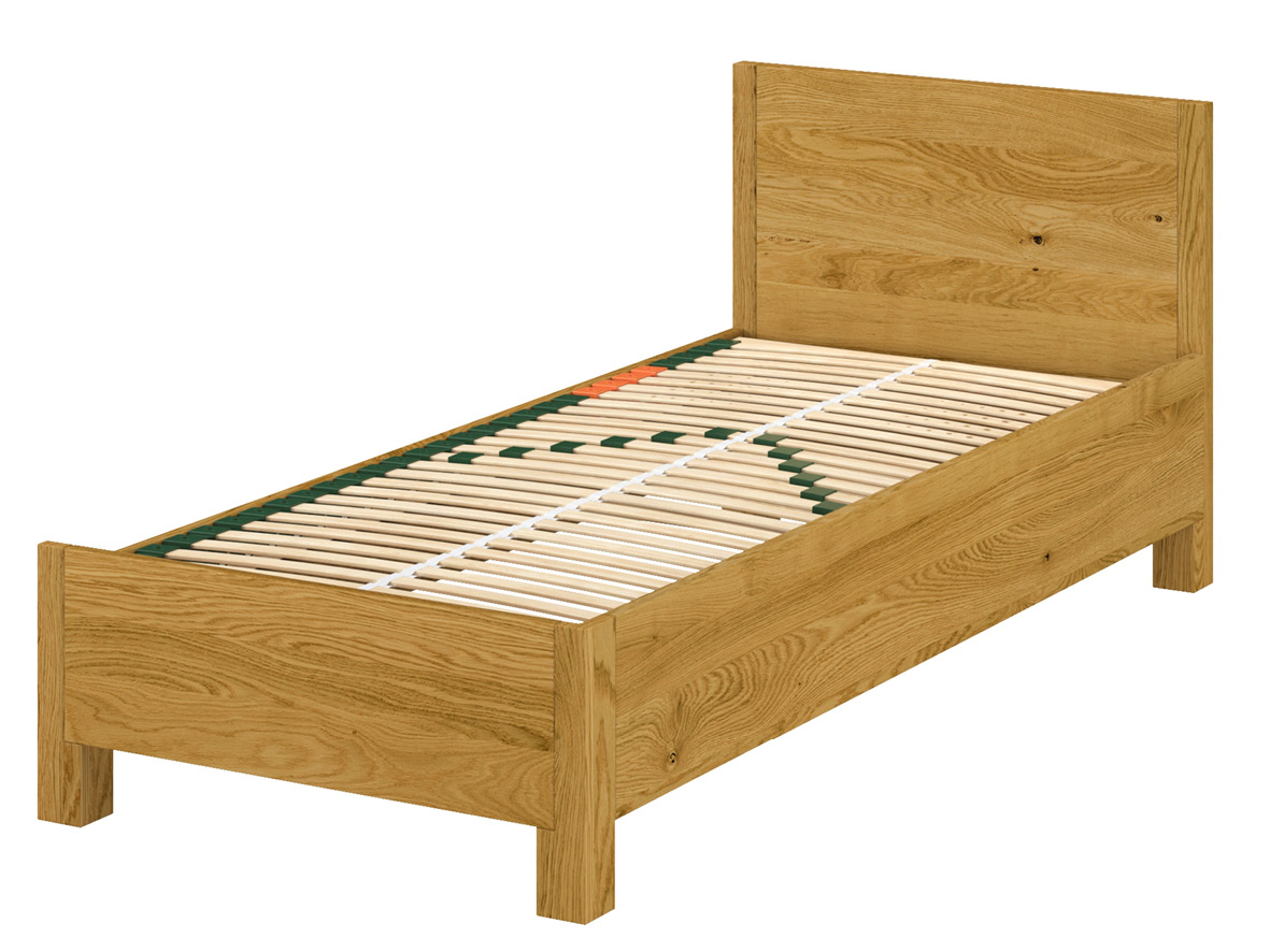 Rechtes Bett: Die rechte äußere Bettseite ist wie bei einem klassischen Bett ausgeführt, die innere Bettseite ist nicht so hoch.