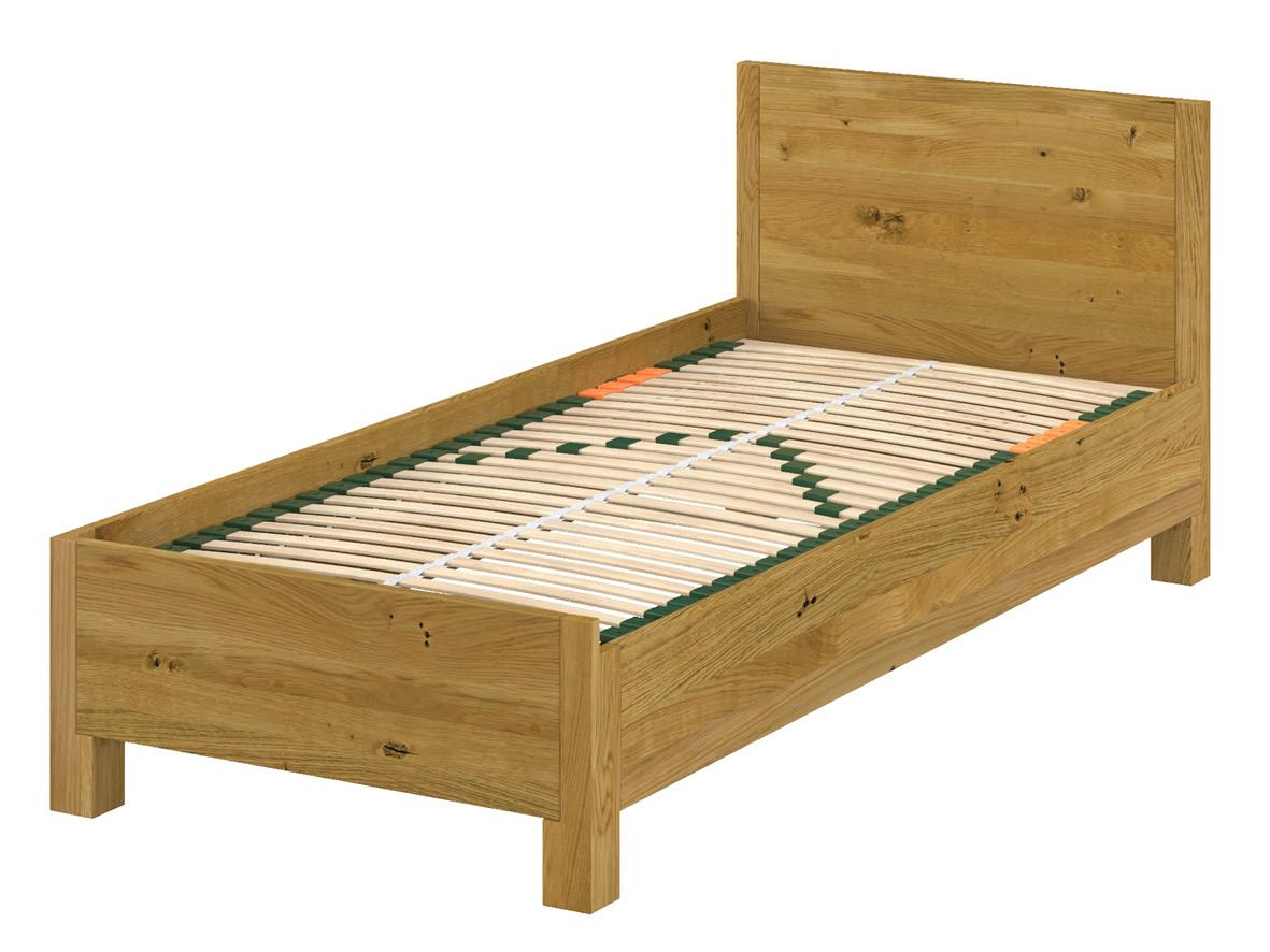 Das linke Bett weist das klassische Seitenteil an der Außenseite auf. Innen hat es die Boxspring-Ausführung.