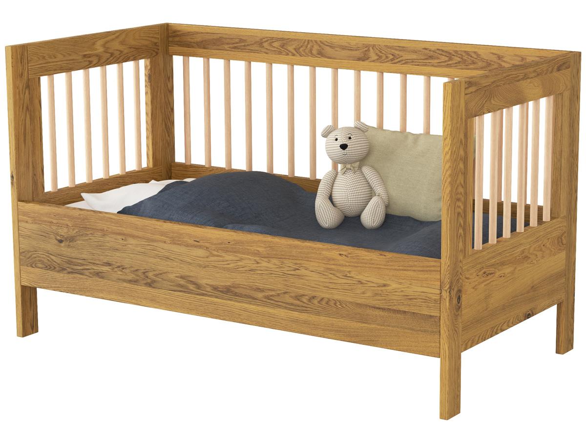 """Paula"" als Kinderbett, umgebaut mit optionalem Seitenteil - Funktion 3"