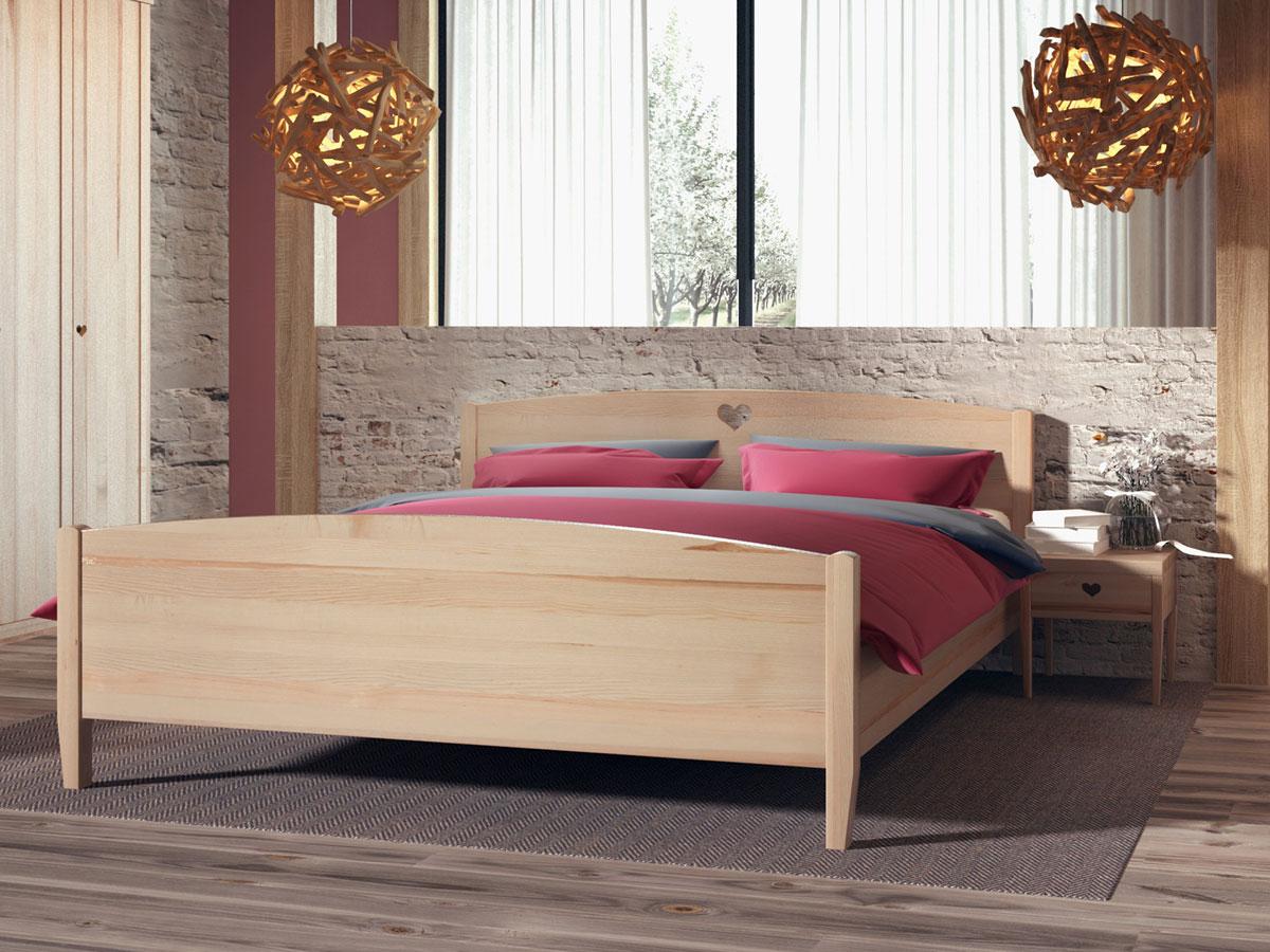 """Schlafzimmer mit Eschenholzbett """"Heidi"""" 180 x 200 cm"""
