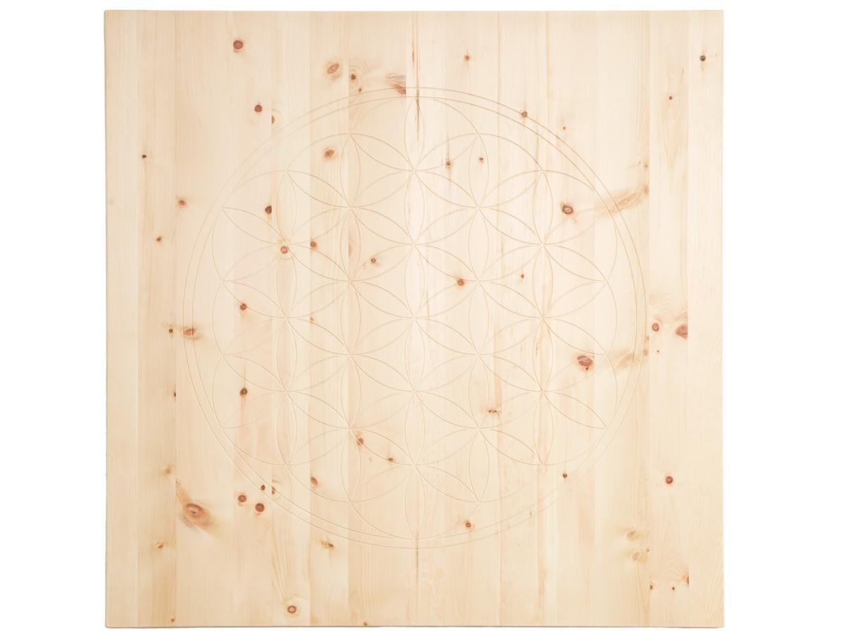 Wandbild aus Zirbenholz 100 x 100 cm