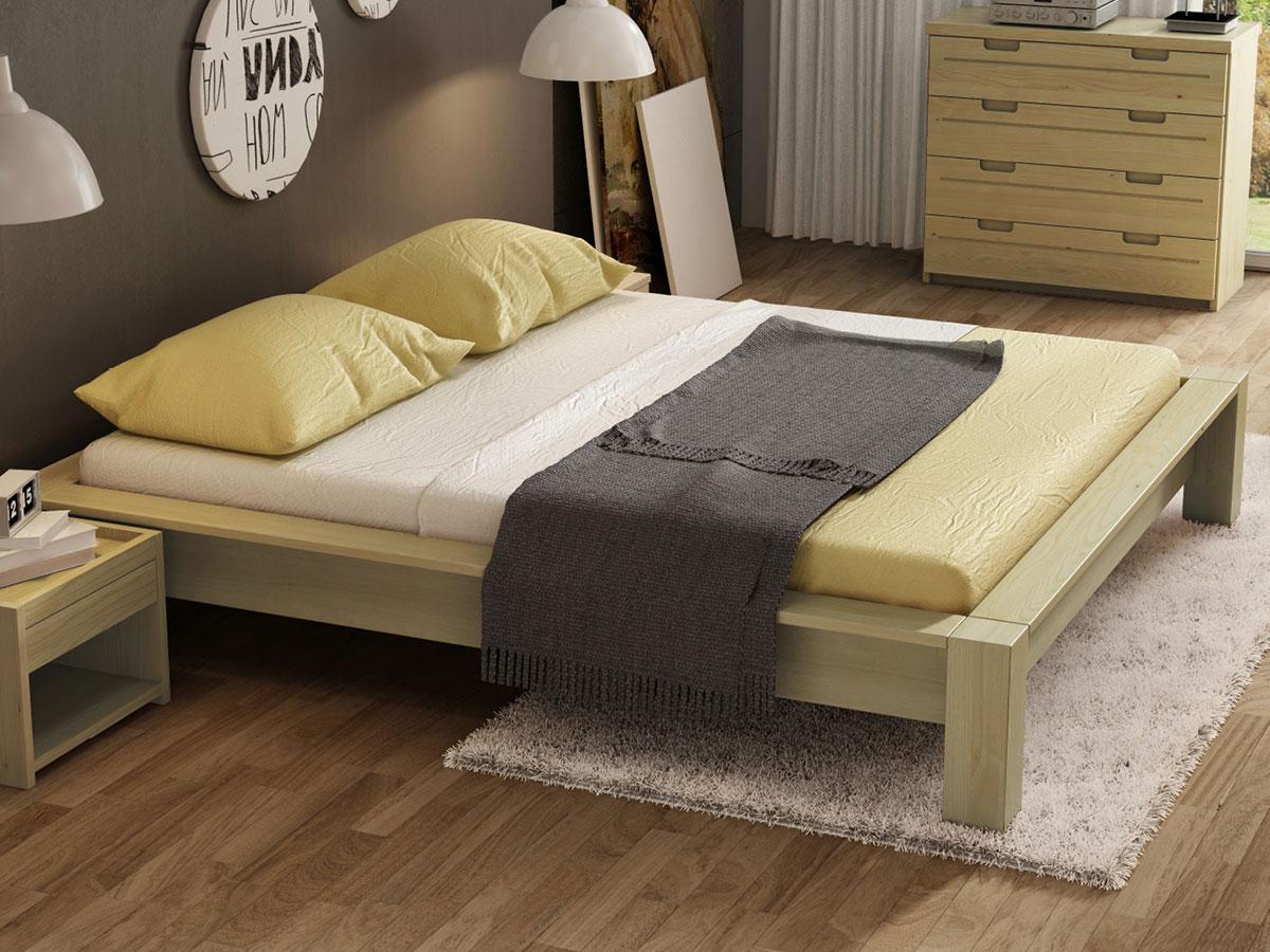 """Schlafzimmer mit Kastanienbett """"Ina"""""""