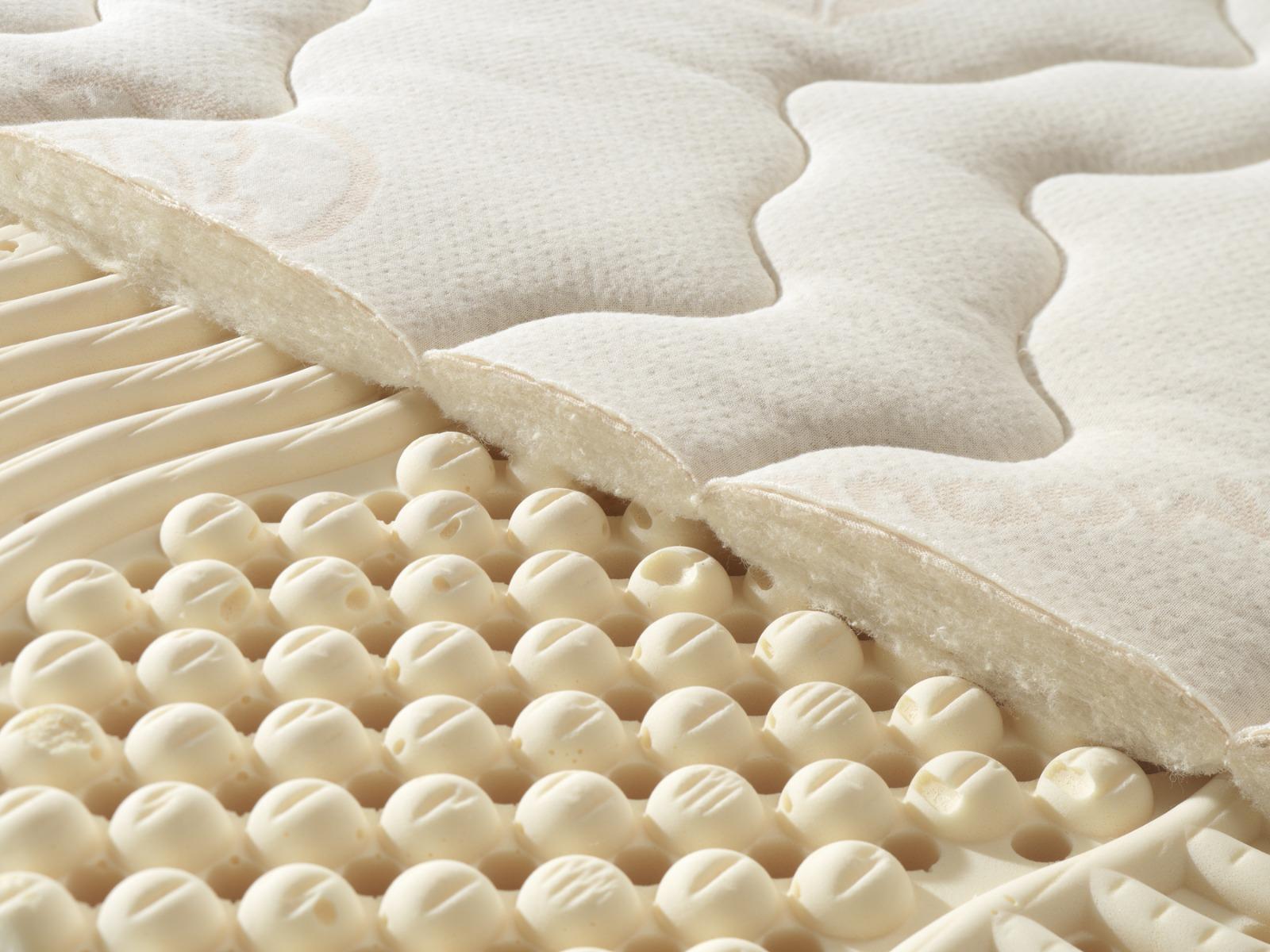 Detail des Bezuges aus Schafschurwolle