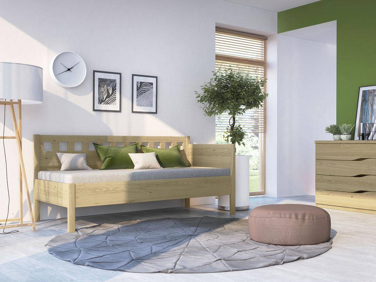 """Zimmer mit Kastaniensofa """"Katrin"""" 90 x 200 cm"""