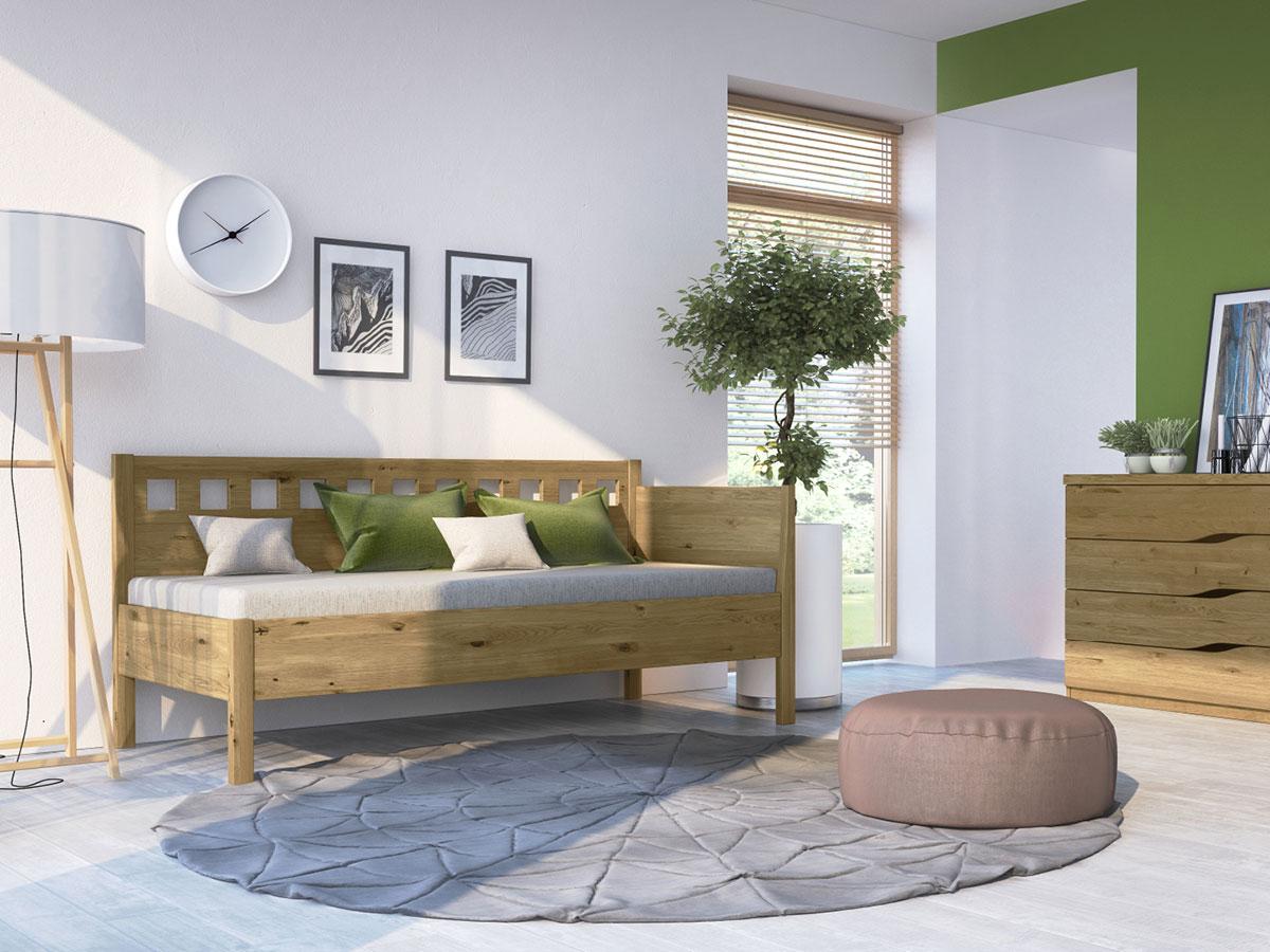 """Zimmer mit Wildeichensofa """"Katrin"""" 90 x 200 cm"""