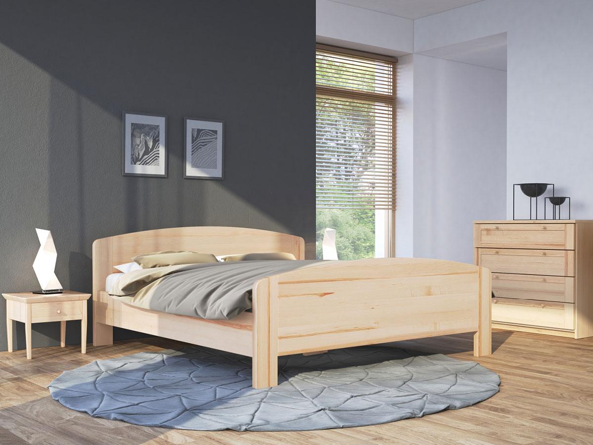 """Schlafzimmer mit Nachttisch in Esche """"Sarah"""""""