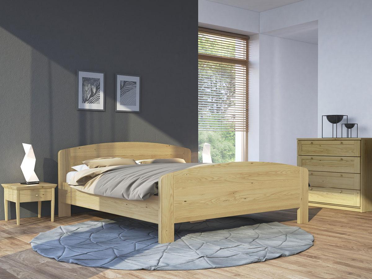 """Schlafzimmer mit Nachttisch in Kastanie """"Sarah"""""""