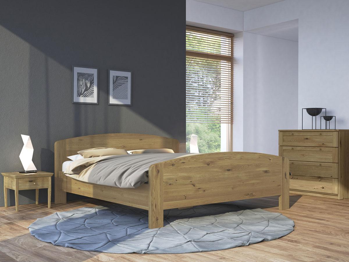 """Schlafzimmer mit Nachttisch in Wildeiche """"Sarah"""""""