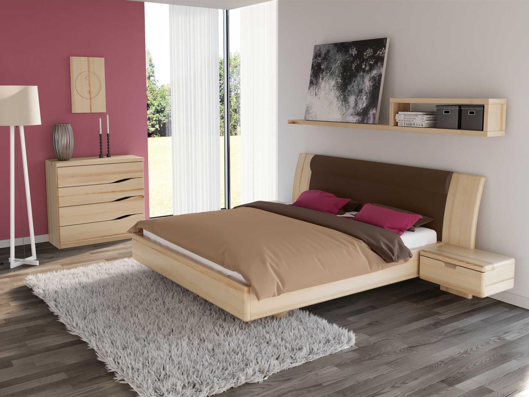 """Schlafzimmer mit Kommode """"Astrid"""" 100 cm in Esche"""