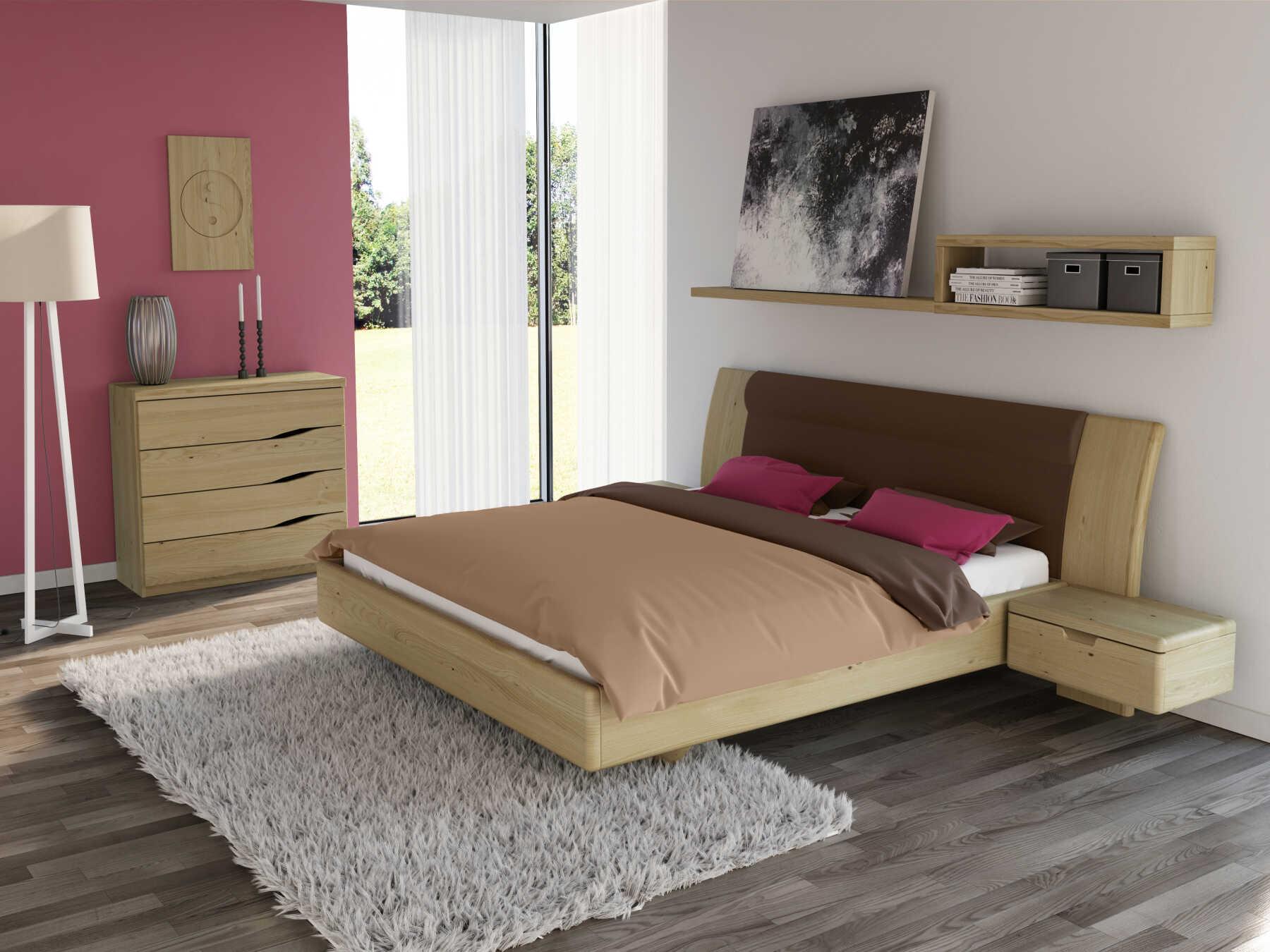 """Schlafzimmer mit Kommode """"Astrid"""" 100 cm in Kastanie"""