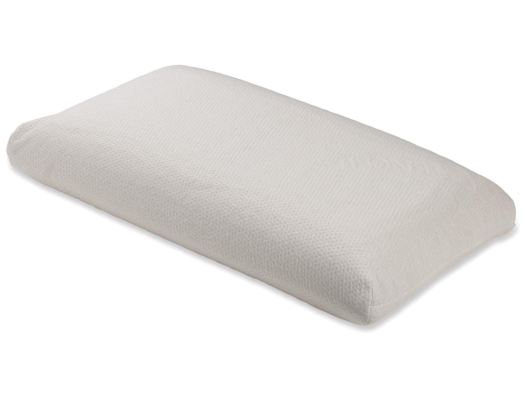 Durch den seifenförmigen Schnitt für alle Schlafpositionen geeignet.