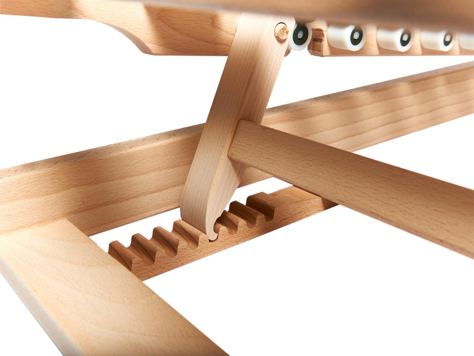 Kopfteilverstellung mit 8-fach Holzraster (12°–40° Neigung)