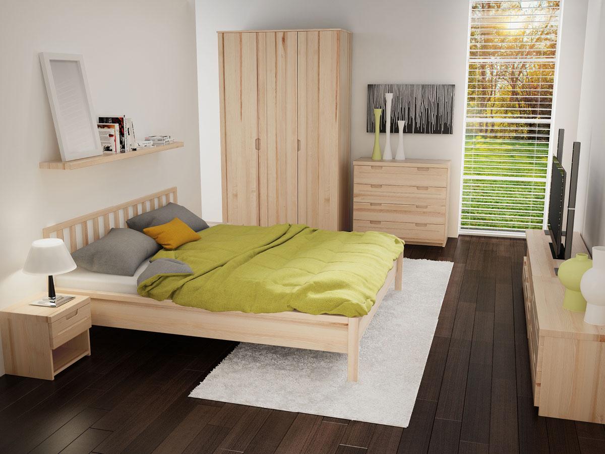 """Schlafzimmer mit Nachttisch in Esche """"Lukas"""""""