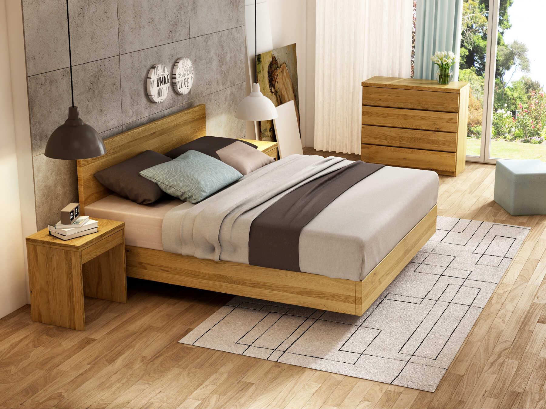 """Schlafzimmer mit Eichenbett """"Lukas"""" Boxspring"""