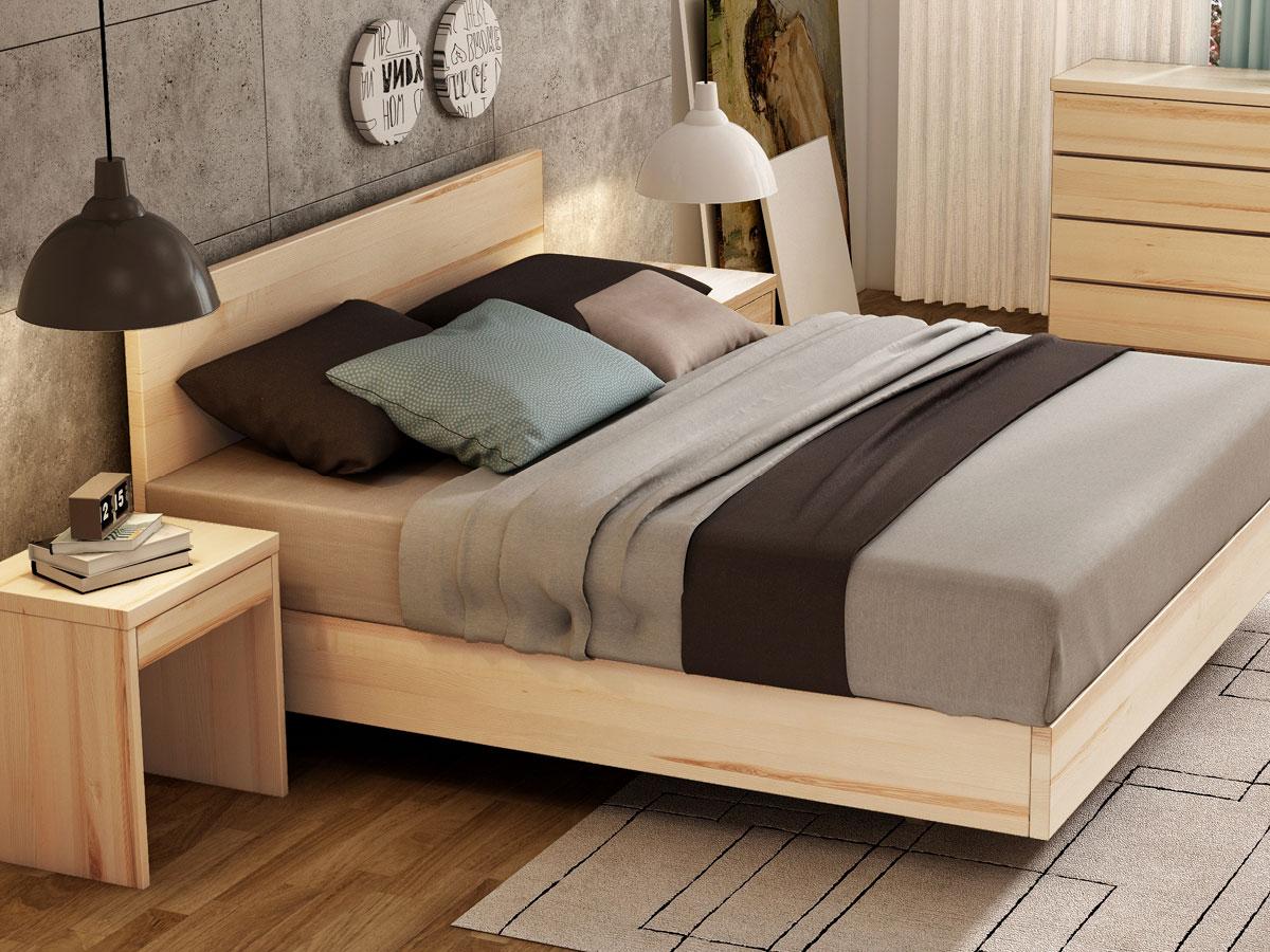 """Schlafzimmer mit Eschenbett """"Lukas"""" Boxspring"""