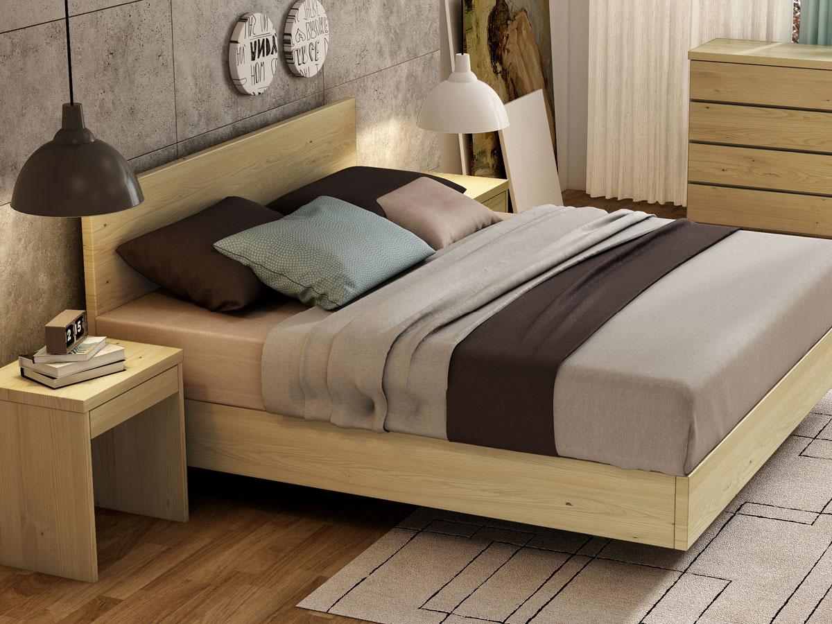 """Schlafzimmer mit Kastanienbett """"Lukas"""" Boxspring"""