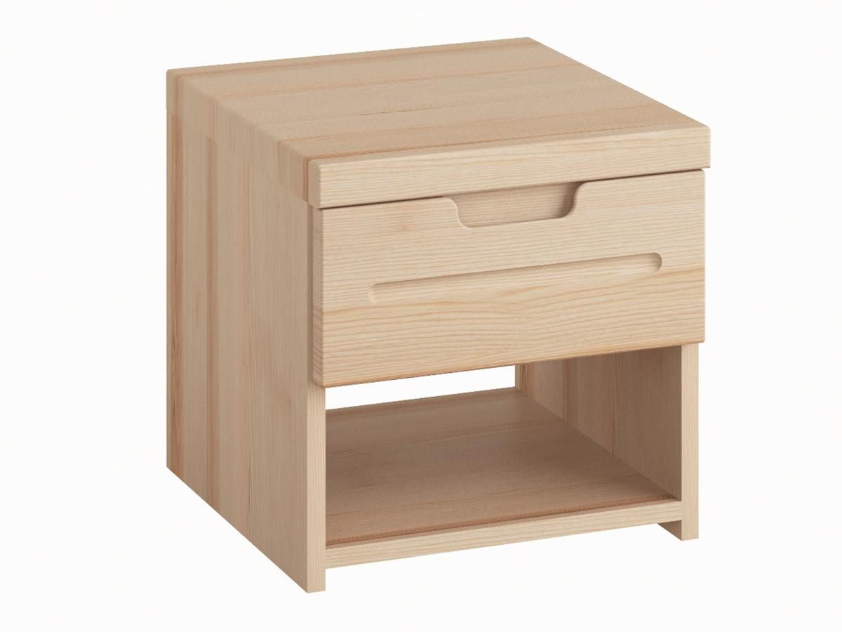"""Nachttisch aus Esche """"Lukas"""" mit einer Schublade, in Standardhöhe"""