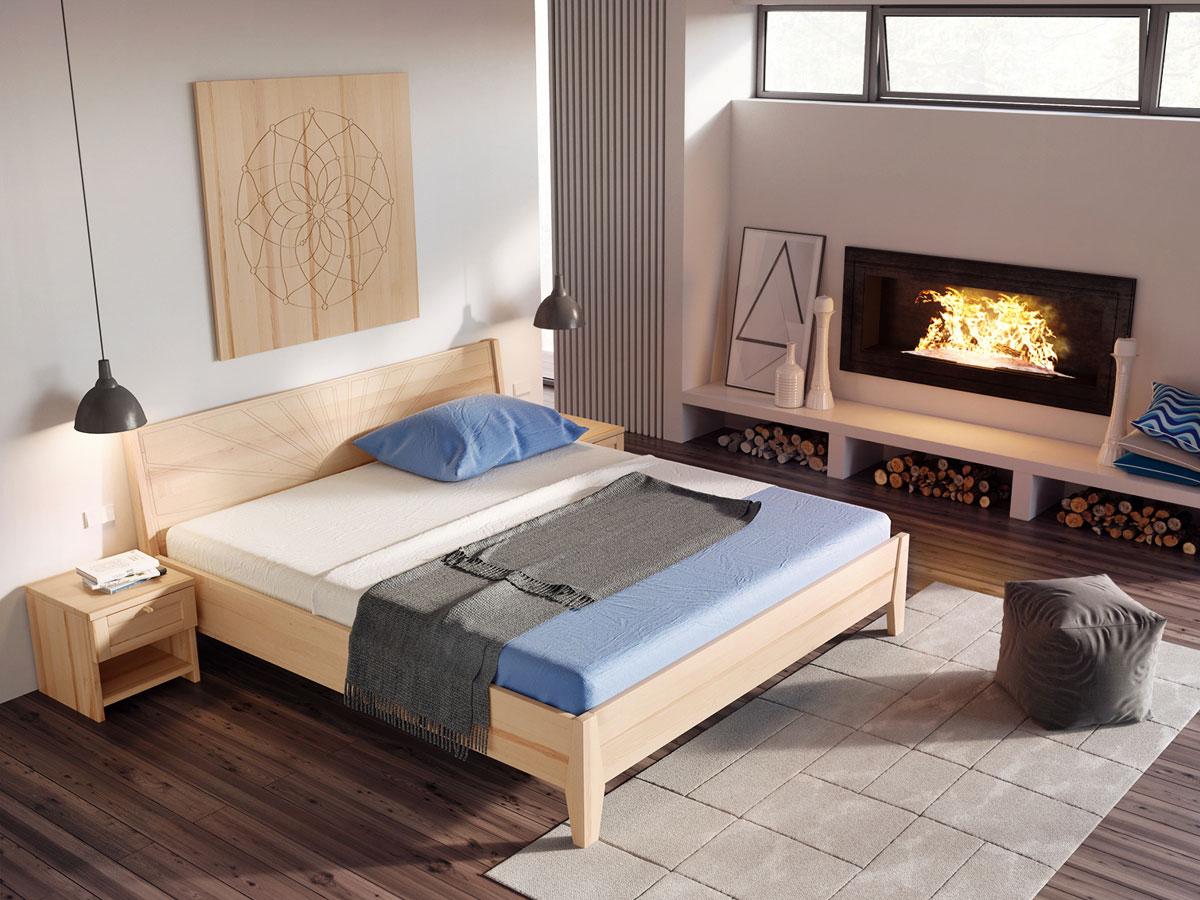 """Schlafzimmer mit Wandbild """"Blume des Lebens"""" Esche"""