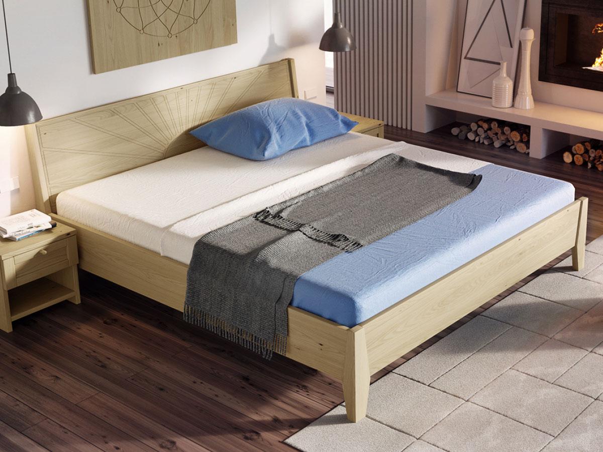 """Schlafzimmer mit Bett Kastanie """"Matthias"""" 180 x 200 cm"""