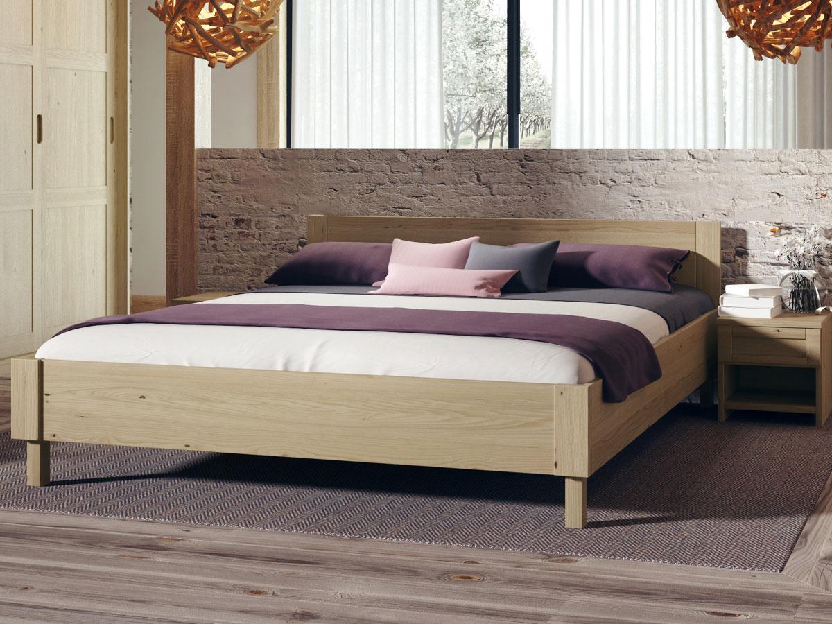 """Schlafzimmer mit Kastanienholzbett """"Max"""" 180 x 200 cm"""