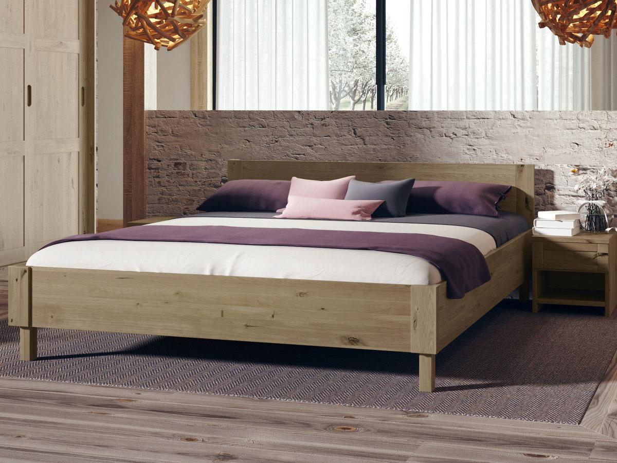 """Schlafzimmer mit Wildeichenholzbett """"Max"""" 180 x 200 cm"""
