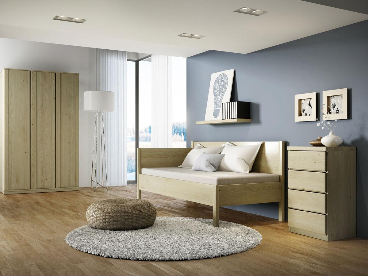 """Zimmer mit Kastaniensofa """"Melanie"""" 90 x 200 cm"""