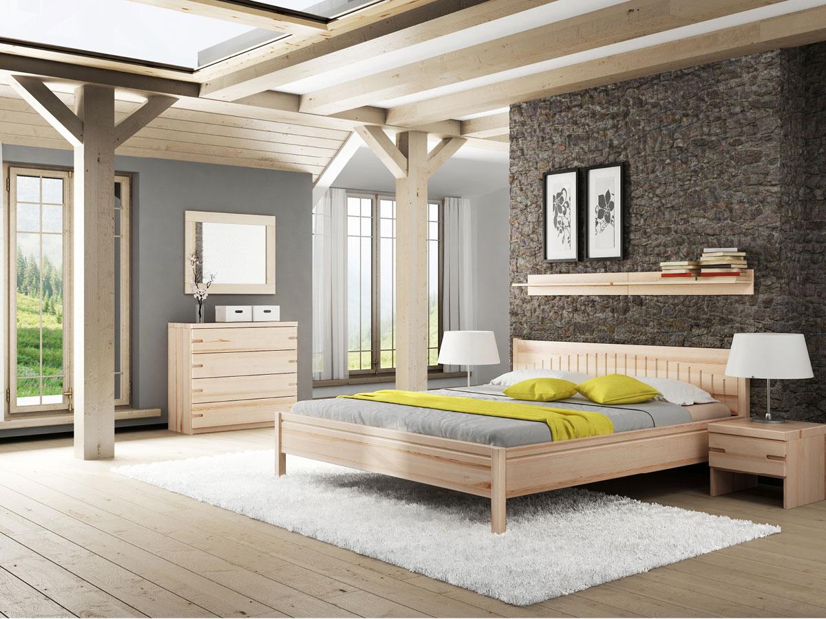 """Schlafzimmer mit Massivholzbett """"Michaela"""" Esche"""