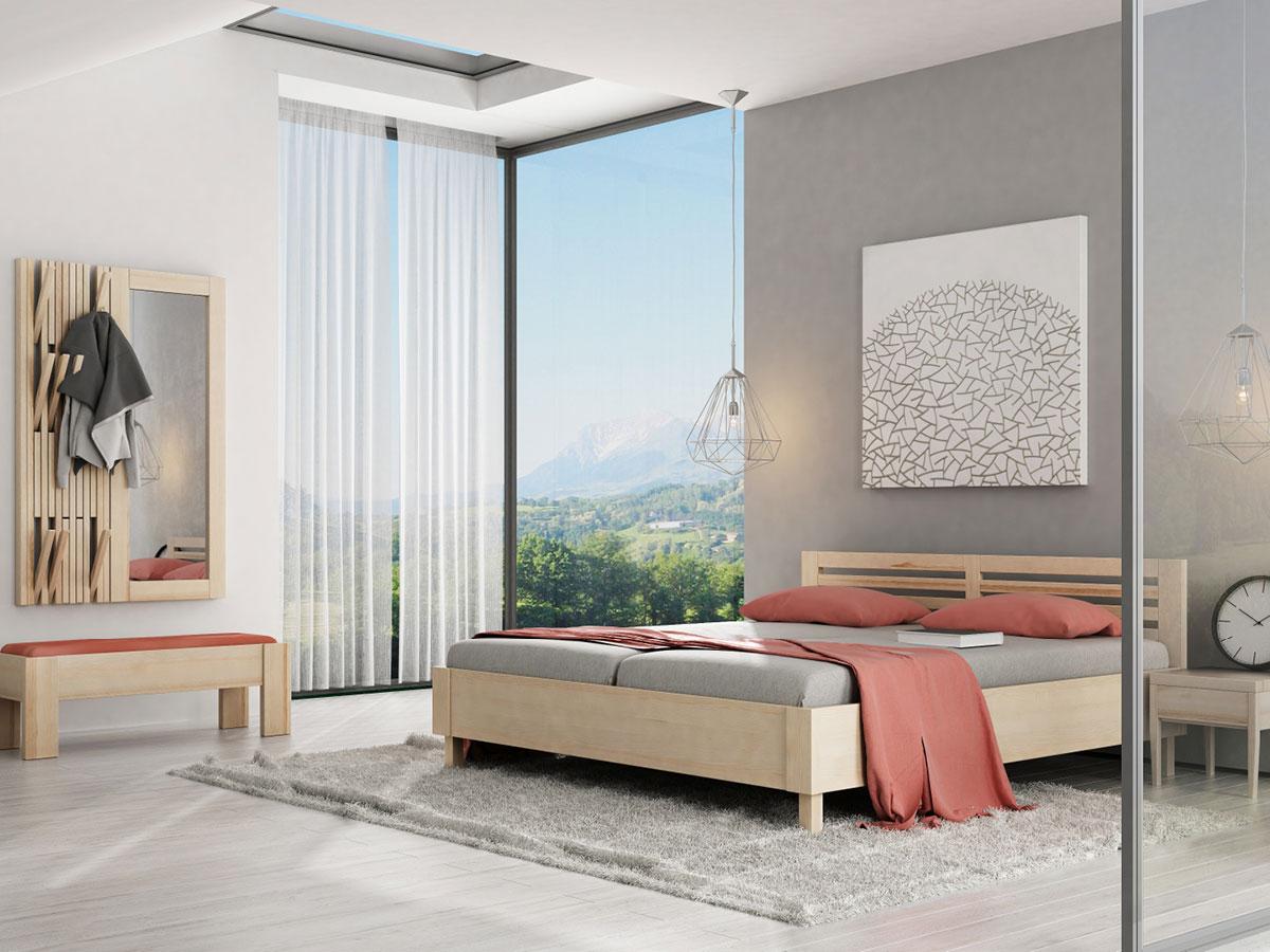 """Schlafzimmer mit Nachttisch in Esche """"Sophia"""""""