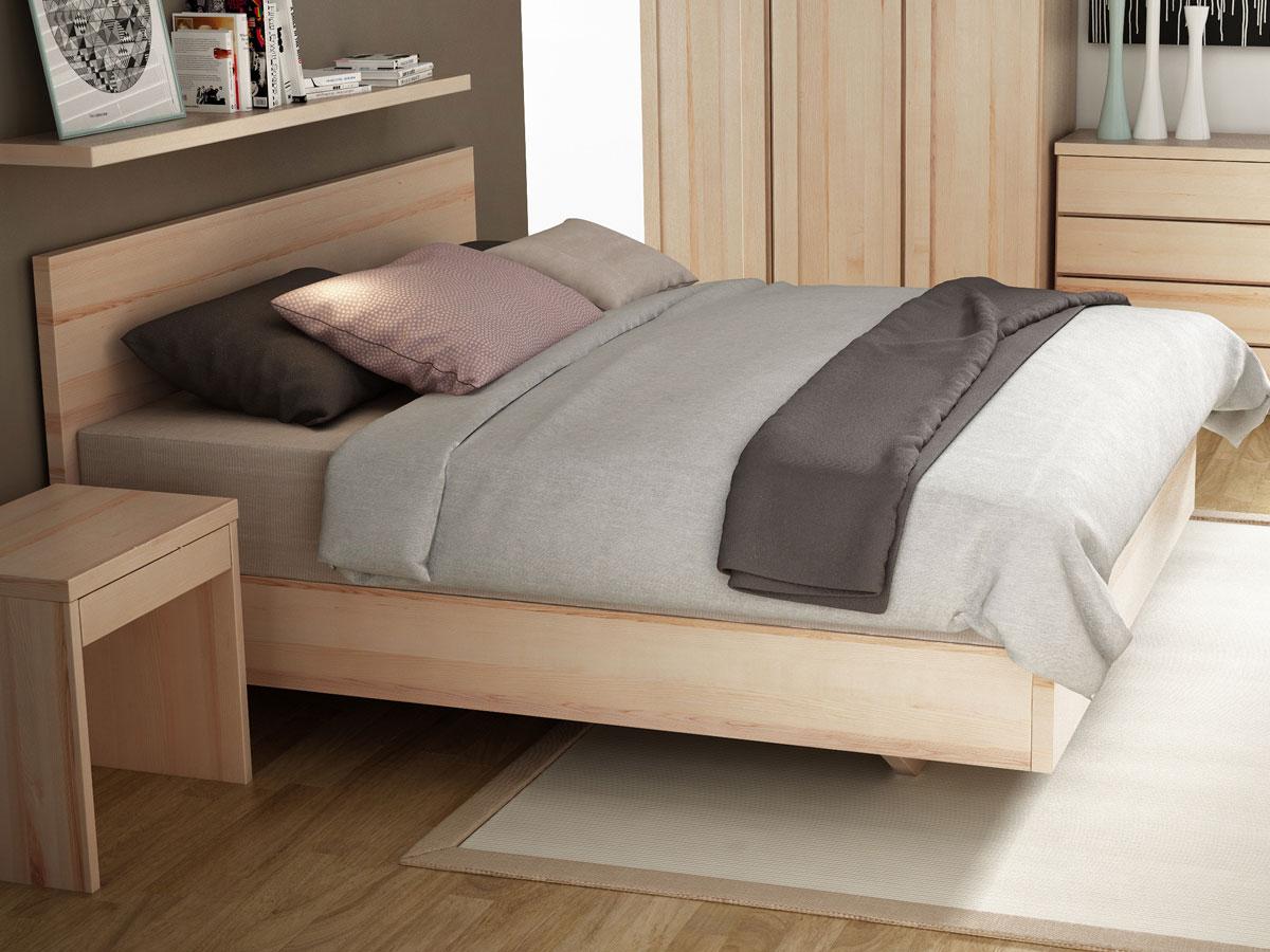 """Schlafzimmer mit Eschenbett """"Patrizia"""" Boxspring 180 x 200 cm"""