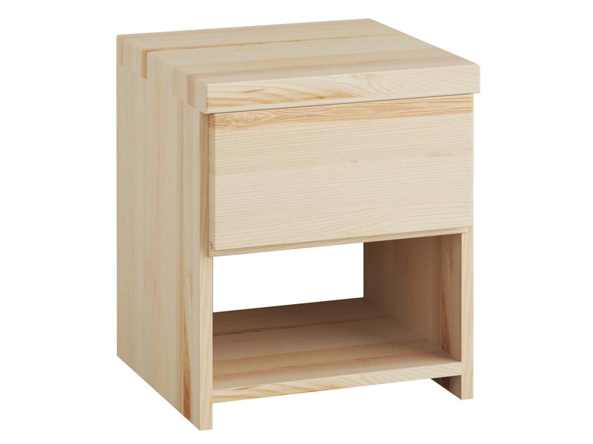 """Nachttisch aus Esche """"Patrizia"""" mit einer Schublade, in Komforthöhe"""