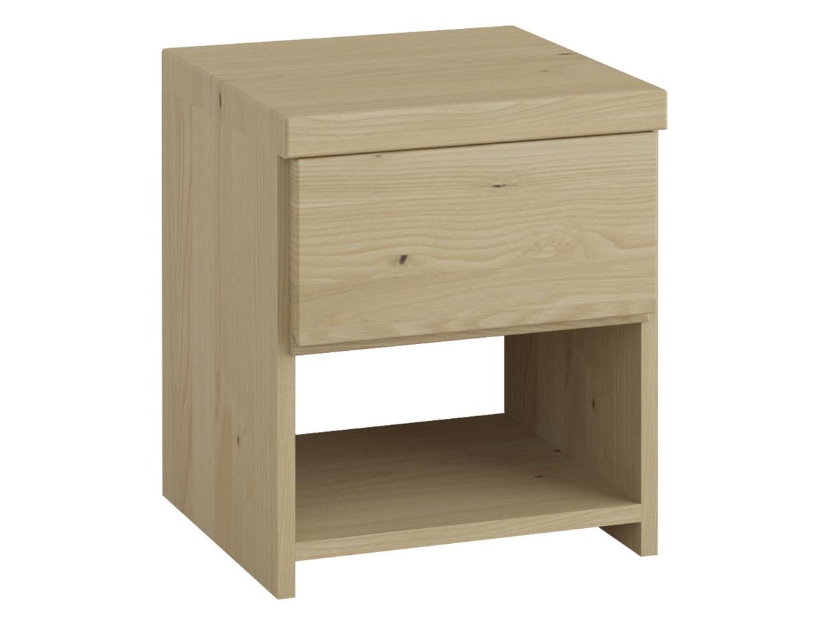 """Nachttisch aus Kastanie """"Patrizia"""" mit einer Schublade, in Komforthöhe"""