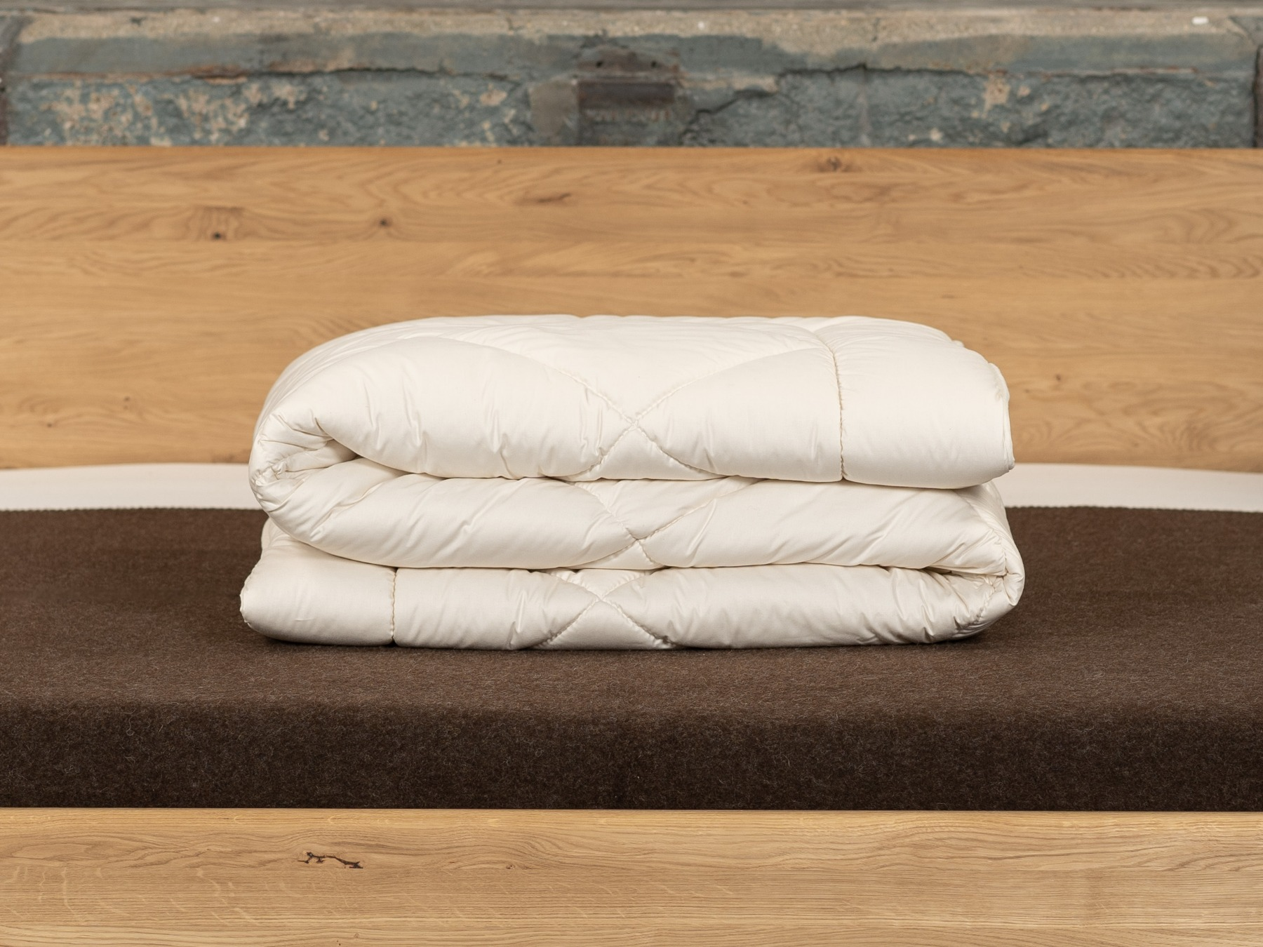 Für die kalte Jahreszeit: 2 leichte Decken miteinander versteppt.
