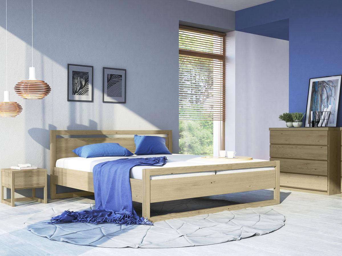 """Schlafzimmer mit Nachttisch """"Selina"""" in Kastanie"""