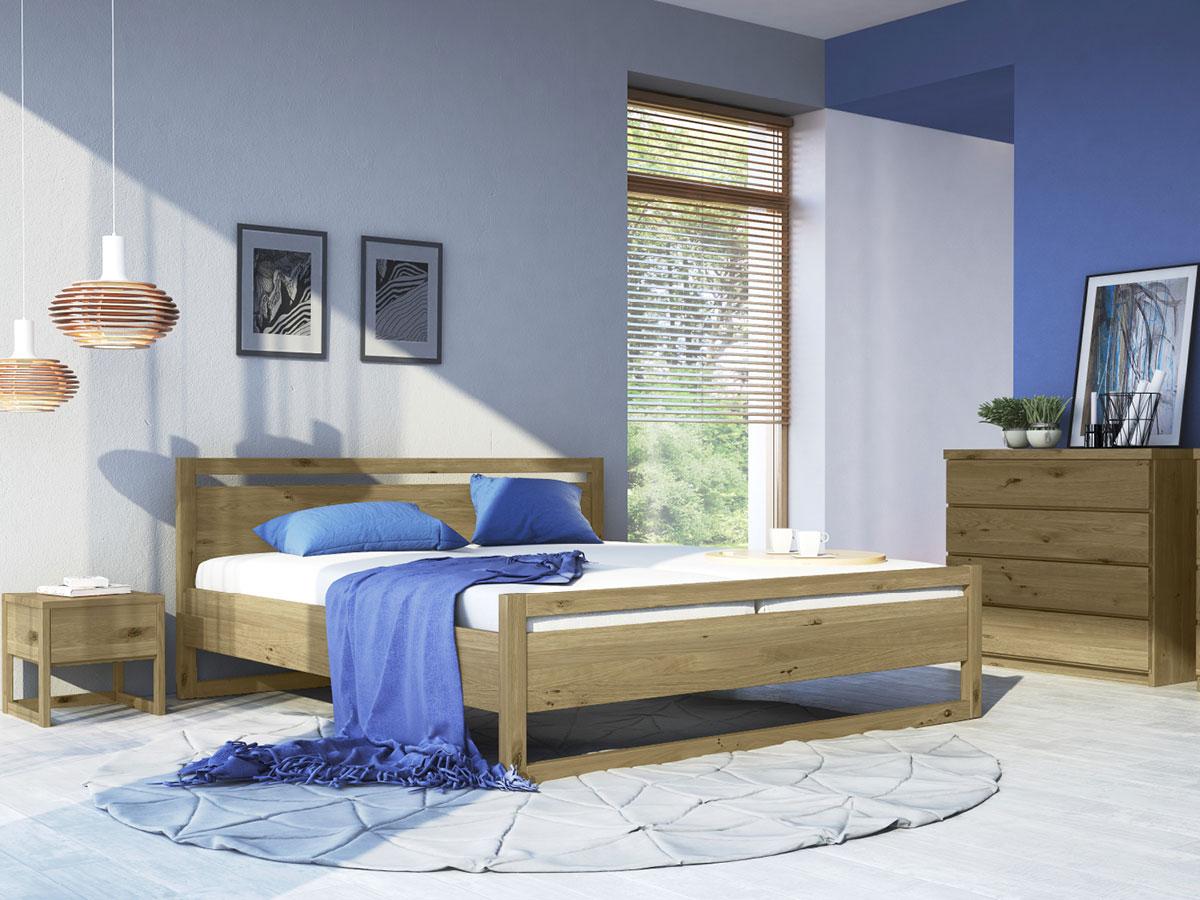 """Schlafzimmer mit Nachttisch """"Selina"""" in Wildeiche"""