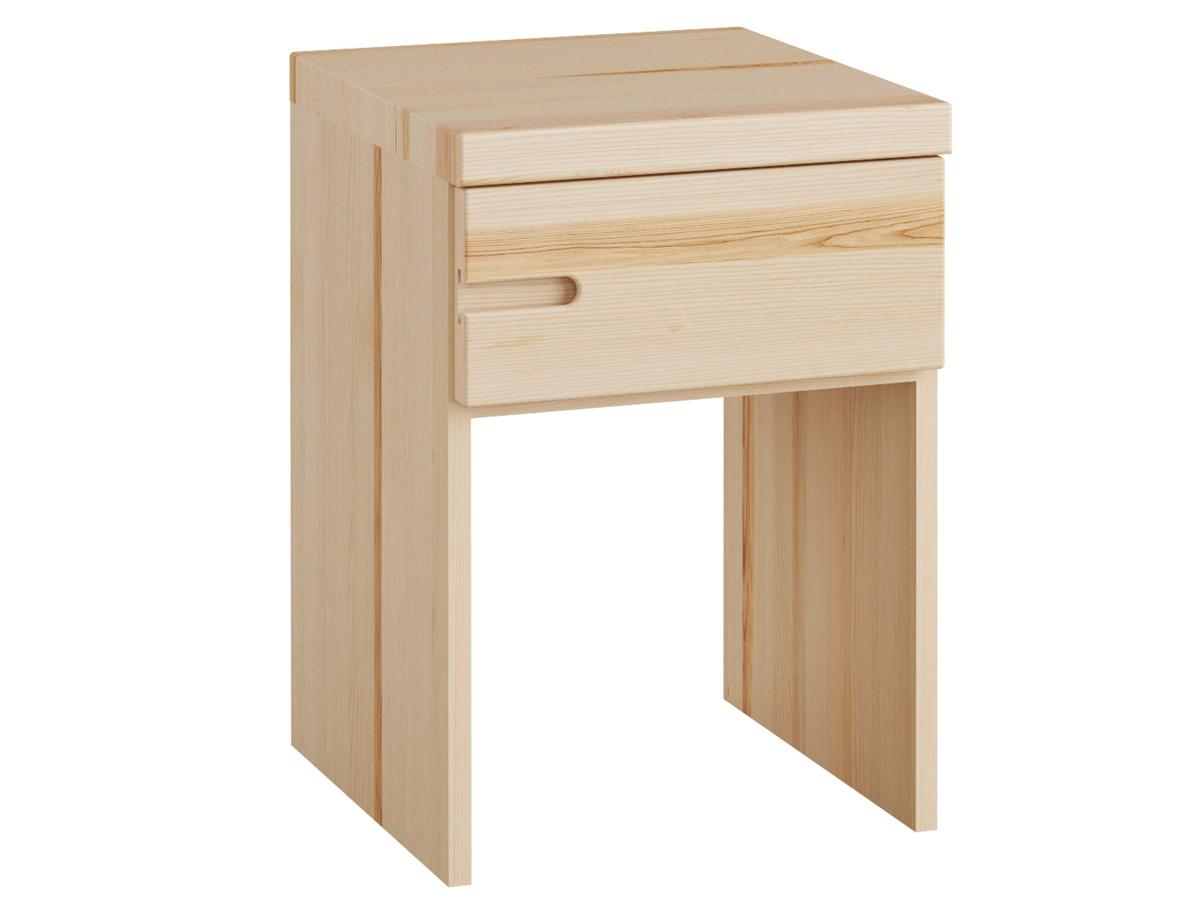 """Eschennachttisch """"Stefan"""" mit Griff links, einer Schublade, in Boxspringhöhe"""