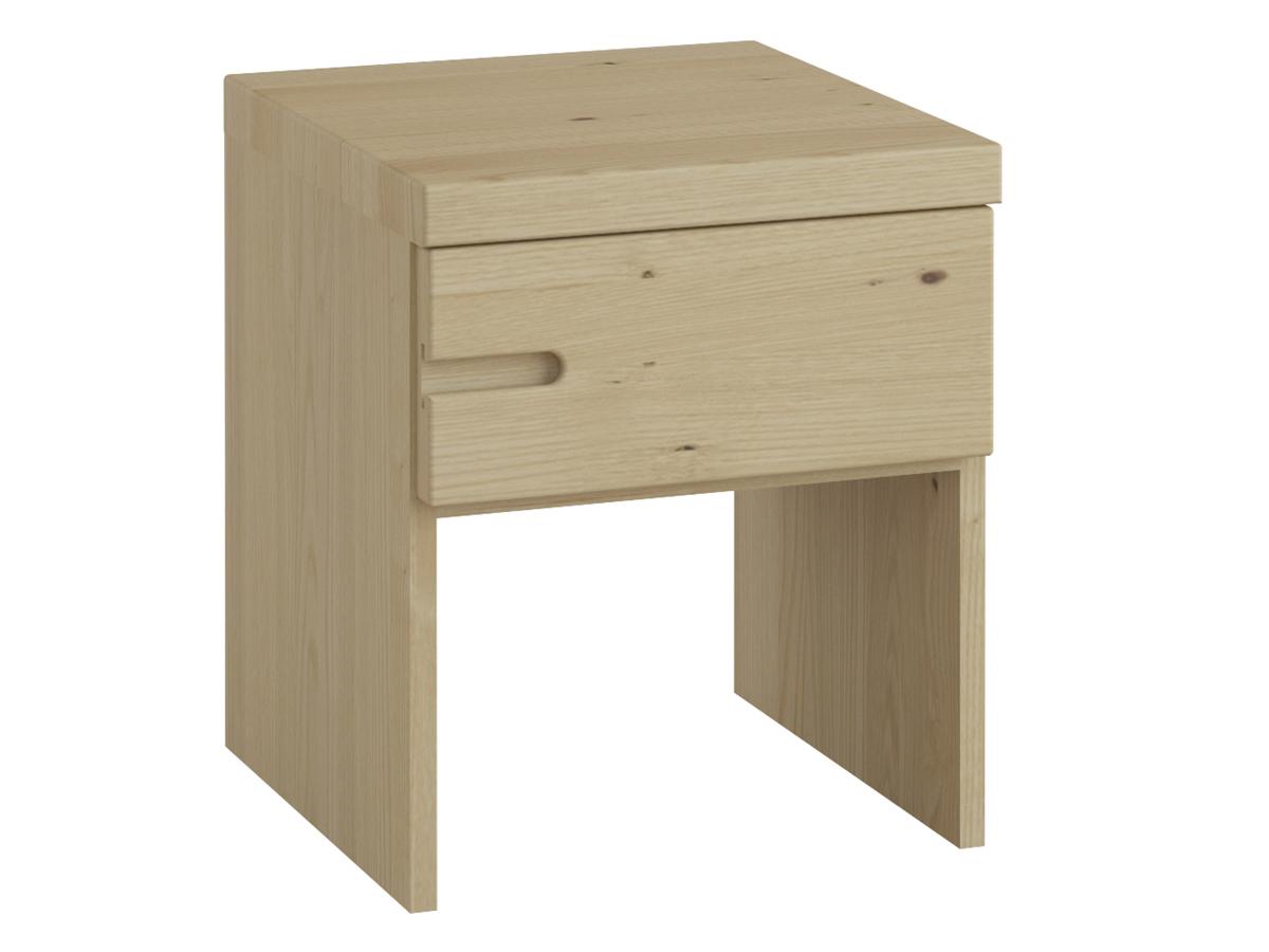 """Kastaniennachttisch """"Stefan"""" mit Griff links, eine Schublade, in Komforthöhe"""
